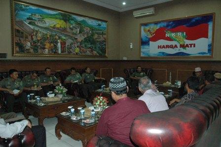 Dewan Dawah Aceh diterima di ruang tamu Kodam Iskandar Muda
