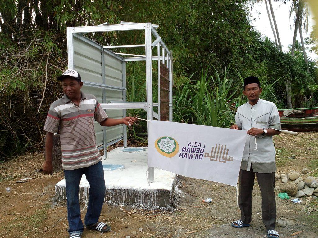 Pembangunan WC Darurat Untuk korban gempa Pidie Jaya Di Ring Meureudu